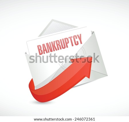bankruptcy email illustration design over a white background - stock vector