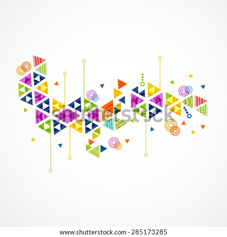 Banner abstract colorful and creative triangle background, vector illustration