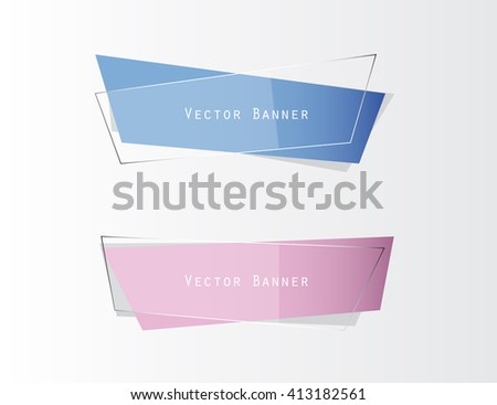 Banner blue and purple modern graphic design