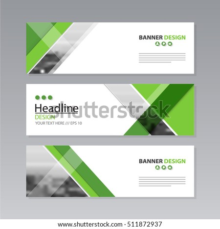 Banner Business Layout Template Vector Design Stock Vector 511872937 ...