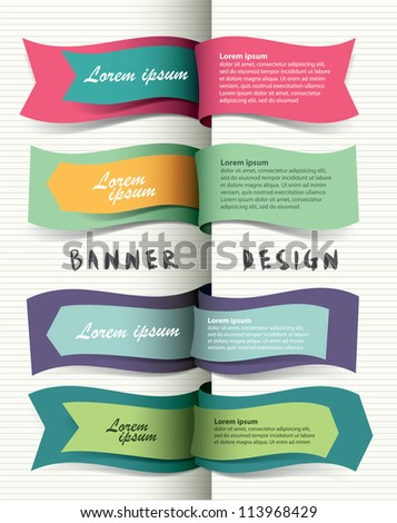 Banner design - stock vector