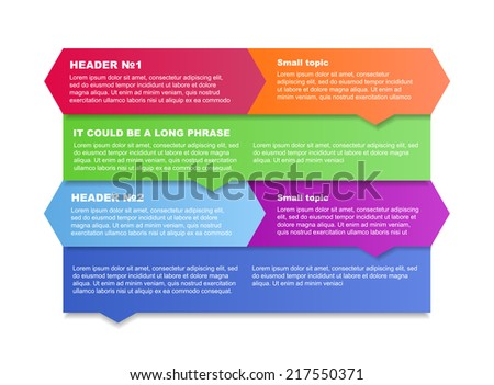 Banner Design template for information, vector eps10 illustration.