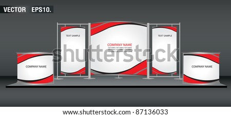banner display stands advertising and promotion counter. with identity background ready for use. Vector template for design work - stock vector