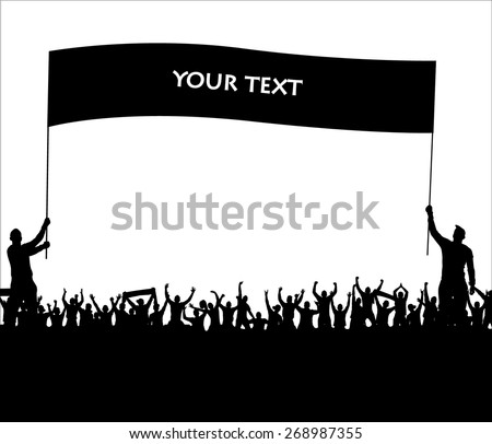 Banner for sports championships and concerts - stock vector