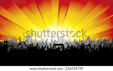 Banner for sports concerts and championships  - stock vector