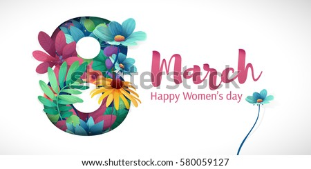 Banner international womens day flyer march stock vector for Art decoration international