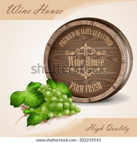 banner for wine house high quality - stock vector