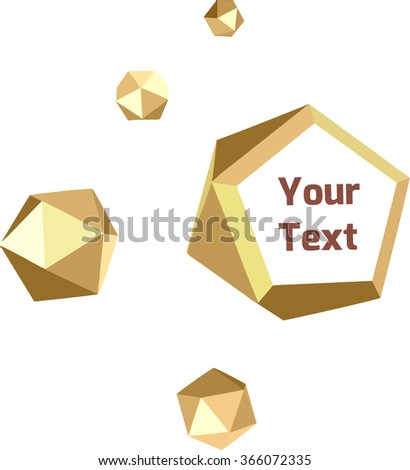Banner gold crystals - stock vector