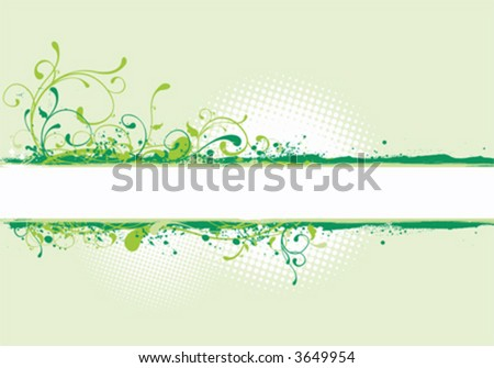 Banner illustration, spring background - stock vector