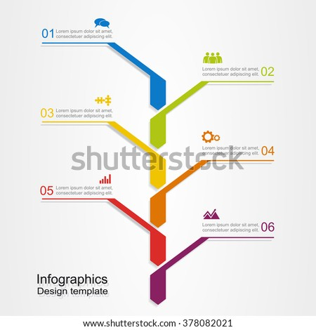 Banner infographic design template with place for your data. Vector illustration. - stock vector