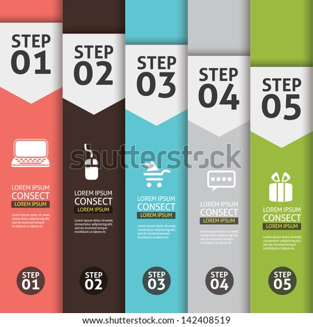 Banner Infographics (Vector Background Number Options Banner, creative design) - stock vector