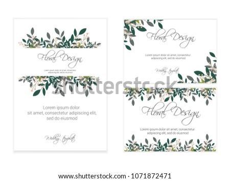 Banner on flower background wedding invitation stock vector wedding invitation modern card design eps 10 stopboris Choice Image