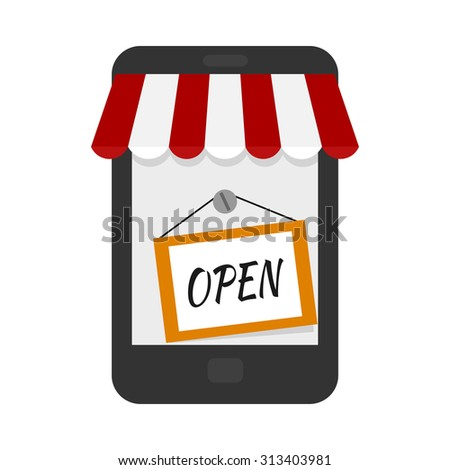 Banner online store isolated on white background. Design for e-commerce. Flat design for e-commerce. Shopping. Vector illustration. - stock vector