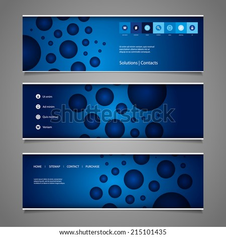Banner or Header Design with Abstract Colorful Dotted Pattern - stock vector