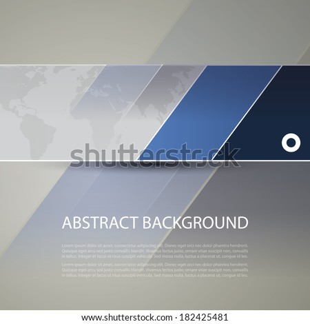Banner or Header Design with World Map Background - stock vector