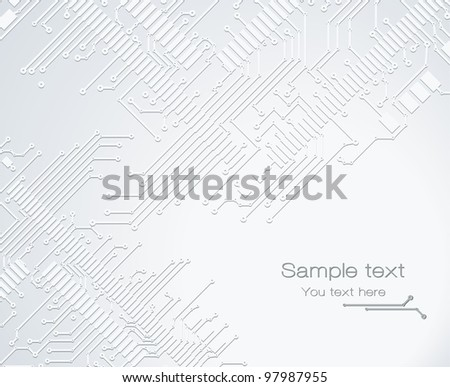 Banner PCB gray - stock vector