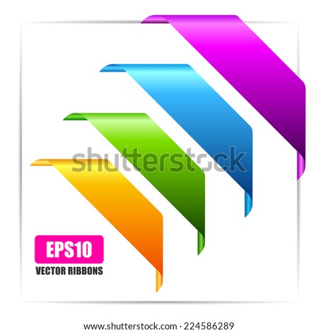 Banner ribbons set - stock vector
