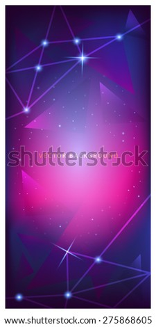 banner, roll, stand, pop, display, night, star,  blue - stock vector