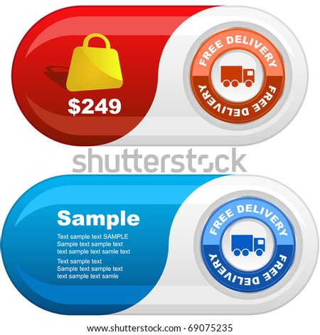 Banner set for sale. Vector illustration. - stock vector