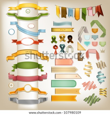 Banner Tapes - stock vector