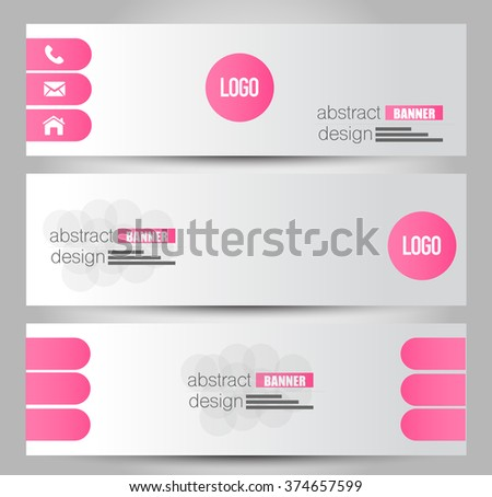 Banner template. Abstract background for design,  business, education, advertisement. Pink color. Vector  illustration.
