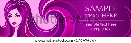 Banner template for beauty salon or advertising - stock vector