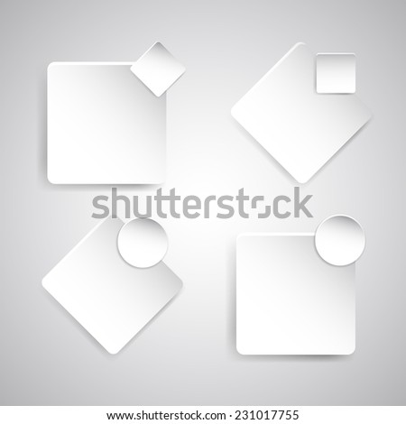 Banner template with white paper, stock vector