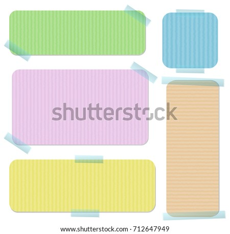 Banner templates in five colors illustration