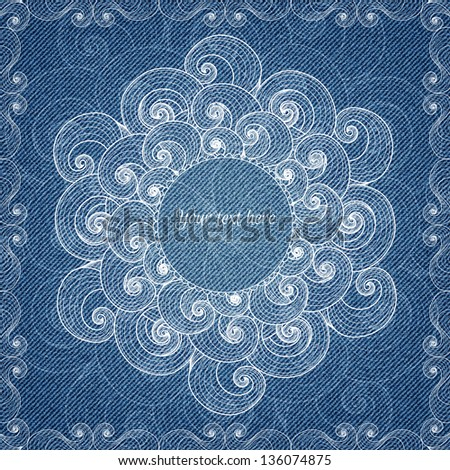 Banner with abstract hand-drawn pattern and place for your text in vector EPS 10. - stock vector