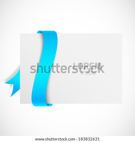 Banner with blue ribbons - stock vector