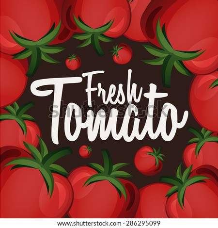 Banner with cartoon tomatoes. Vector illustration - stock vector
