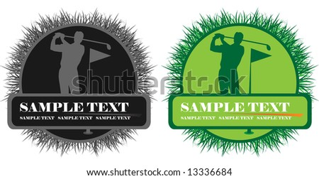 banner with golf player