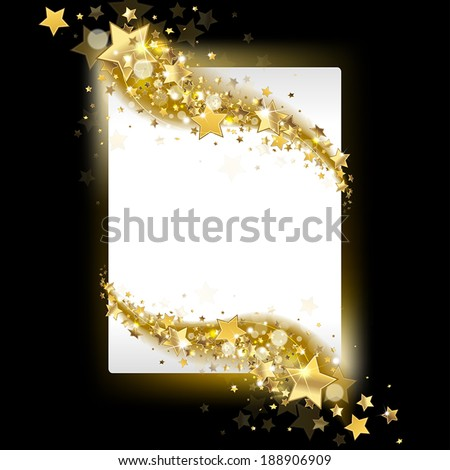 banner with stars on a dark background - stock vector