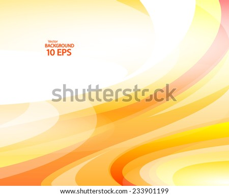 Banner with yellow waves. Vector Illustration Eps 10 - stock vector