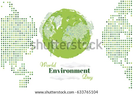 Banner world environment day world map stock vector 633765104 banner world environment day with world map flat vector illustration eps 10 gumiabroncs Images