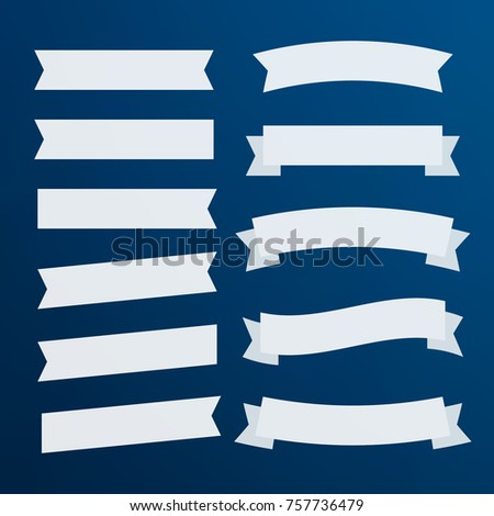 Banners flat isolated. Ribbons banners. Decor vector flat