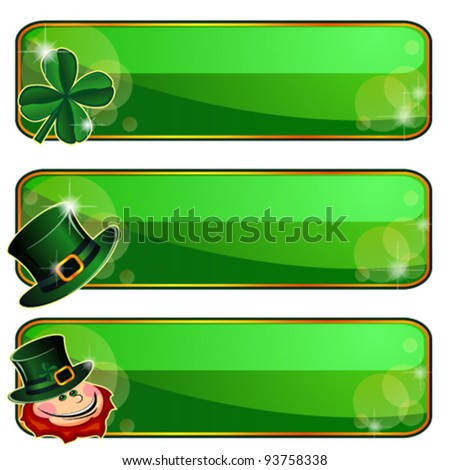 Banners for Saint Patrick?s Day