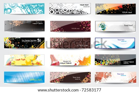Banners glossy . - stock vector