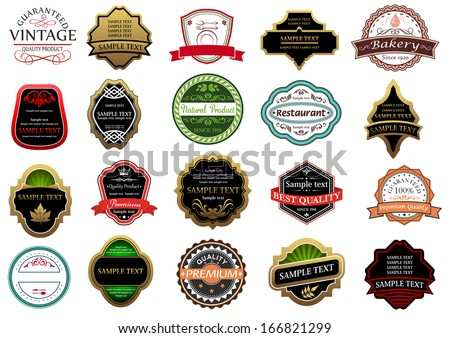 Banners, labels and stickers set for retail industry design - stock vector