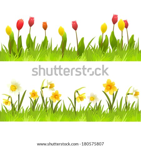 Banners spring flowers vector illustation stock photo photo vector banners of spring flowers vector illustation mightylinksfo