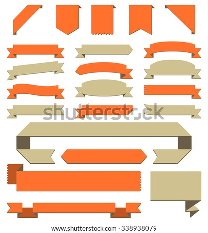 Banners Set - Set of banners for copyspace.  Each banner is grouped individually for easy editing. - stock vector