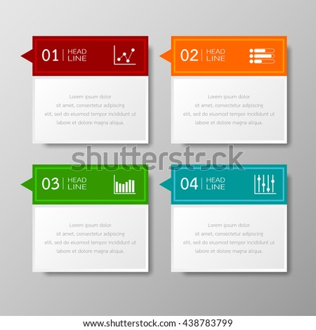 Banners template tabs design Illustration vector business and text box infographics for   presentation layout.