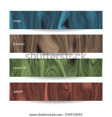Banners with abstract pattern. Vector set - stock vector