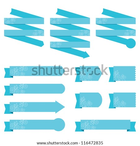 Banners with textured detail - stock vector
