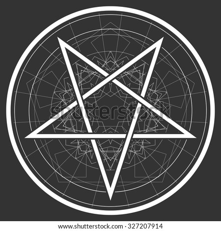 Baphomet Star Reversed Pentagram Satanic Sign Stock Vector 327207914