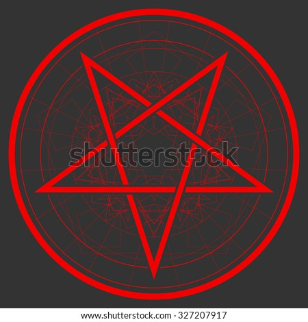 Baphomet Star Reversed Pentagram Satanic Sign Stockvector 327207917