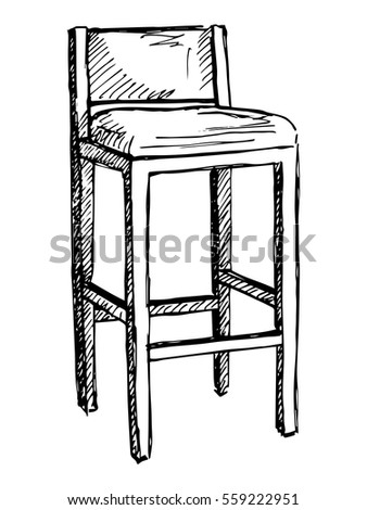 Sketch Chairs Stools Stock Images Royalty Free Images