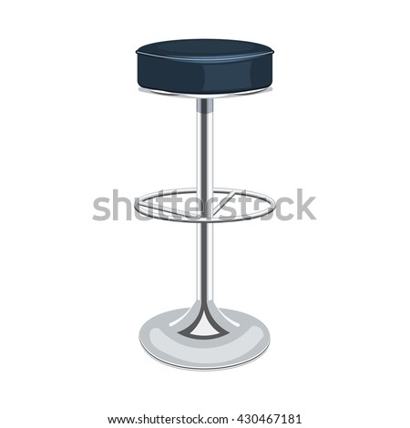 Bar chair vector illustration isolated on a white background
