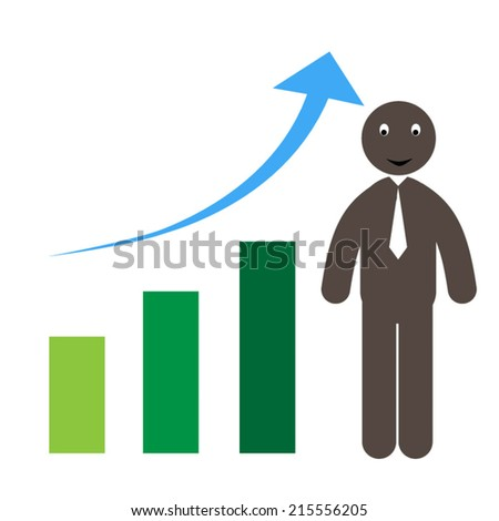 Bar Chart and Business Growth - stock vector