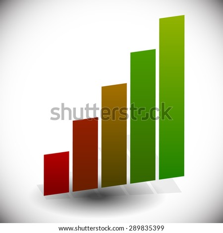 Bar chart, bar graph element isolated on white. - stock vector